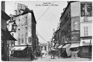 La rue Nationale en direction de la Seine. Carte postale.