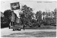 Le square Brieussel. Carte postale.